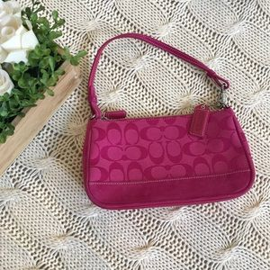 {Coach} Signature Demi Purse Hot Pink